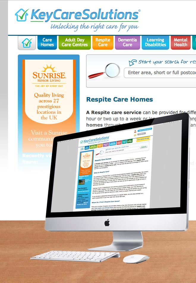 Key Care Solutions Website Design