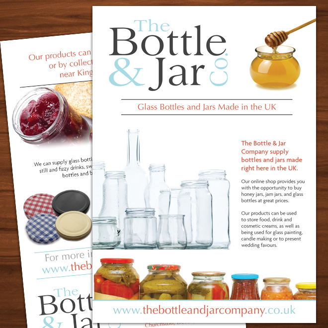 Flyer Design for Bottle & Jar company