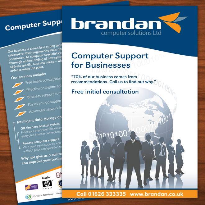 Flyer Design and printing for Brandan Computer Solutions