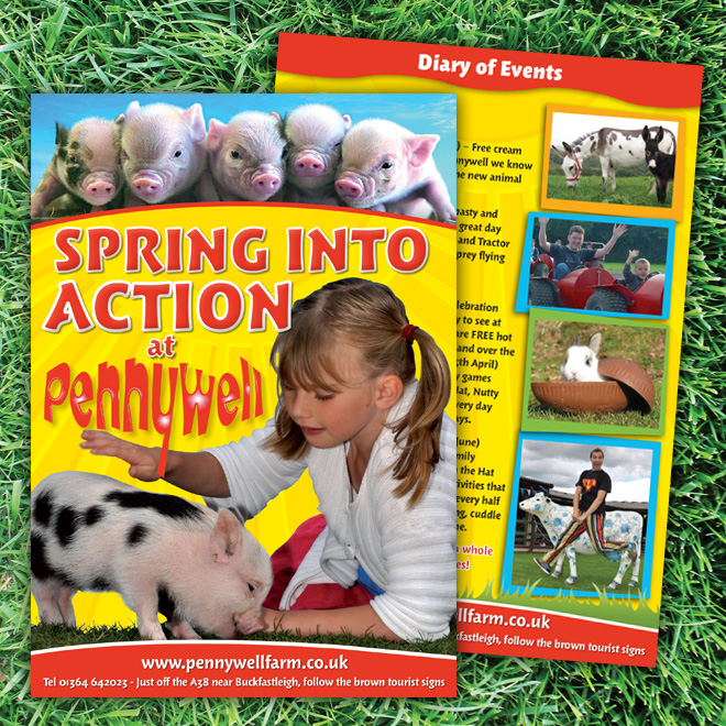 Flyer designs for Pennywell Farm