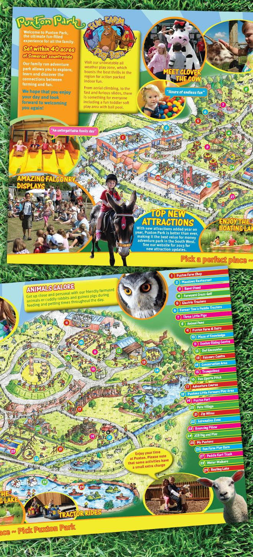 Puxton Park Tourist Leaflet Design & Print