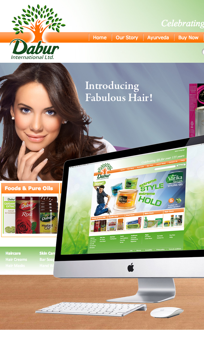 Dabur UK website design