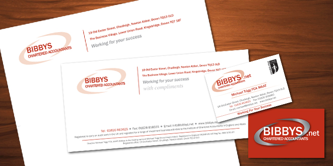 Bibbys Accountants had SPS Marketing design their logo and corporate style