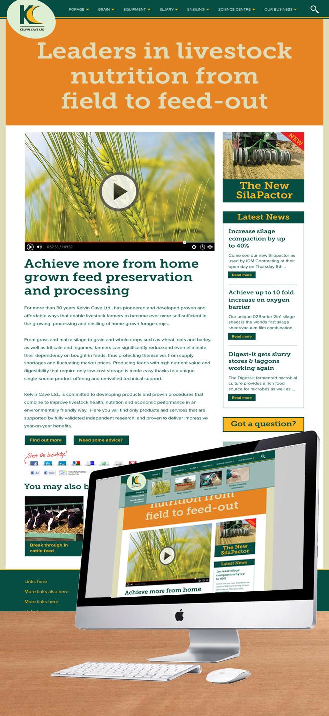Kelvin Cave website Design