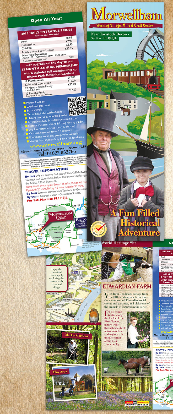Morwellham Quay Tourist Leaflet design