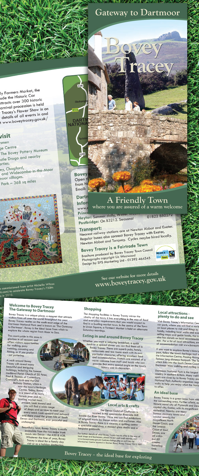 Bovey Tracey Tourist Leaflet Design & Print