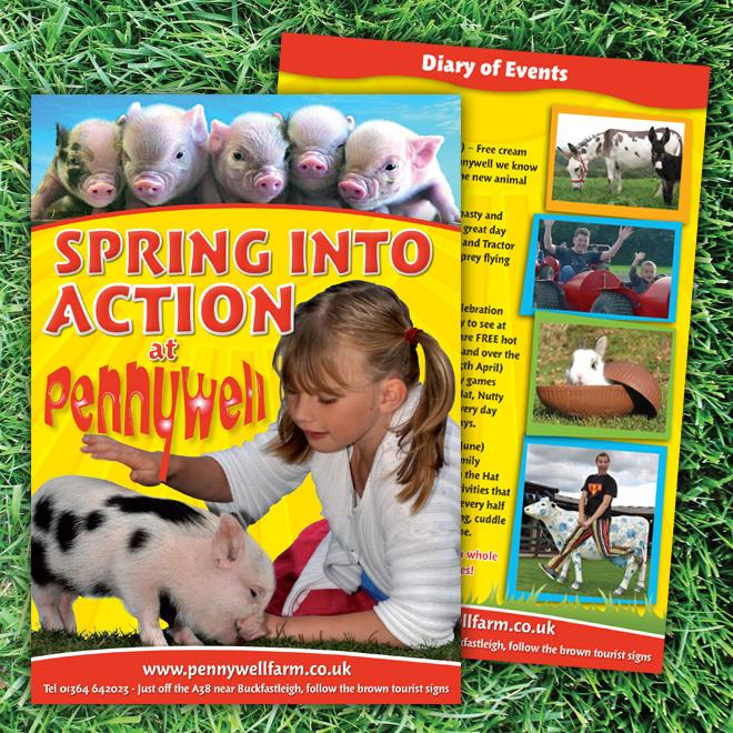 Flyer designs for Pennywell Farm
