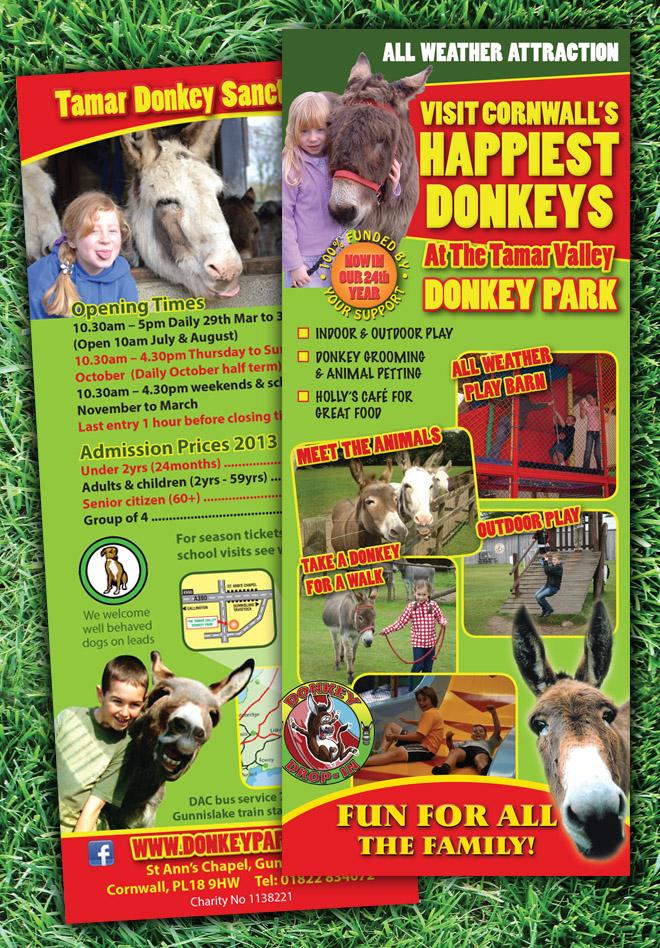 Tamar Donkey Park Tourist Leaflet Design & Print