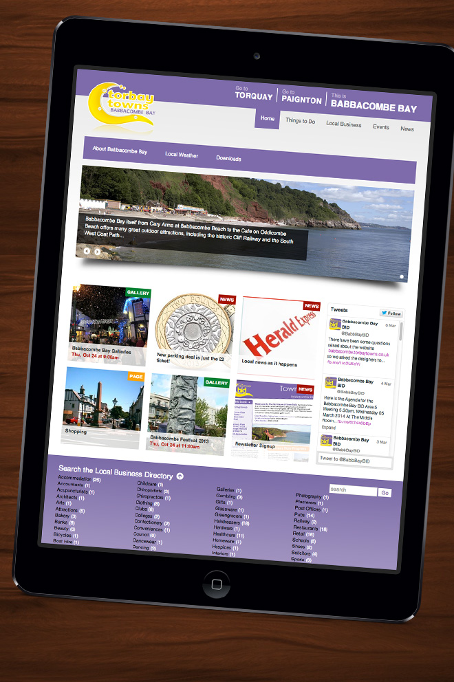 Torbay Towns website for Babbacombe Bay