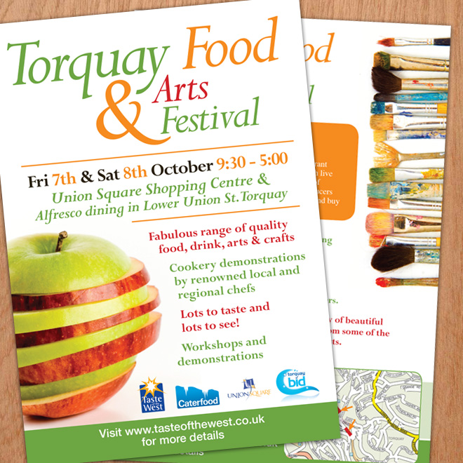 More Flyer designs for Torbay Food and Arts Festival
