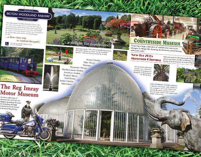 Bicton Park Botanical Gardens Tourist Leaflet Design