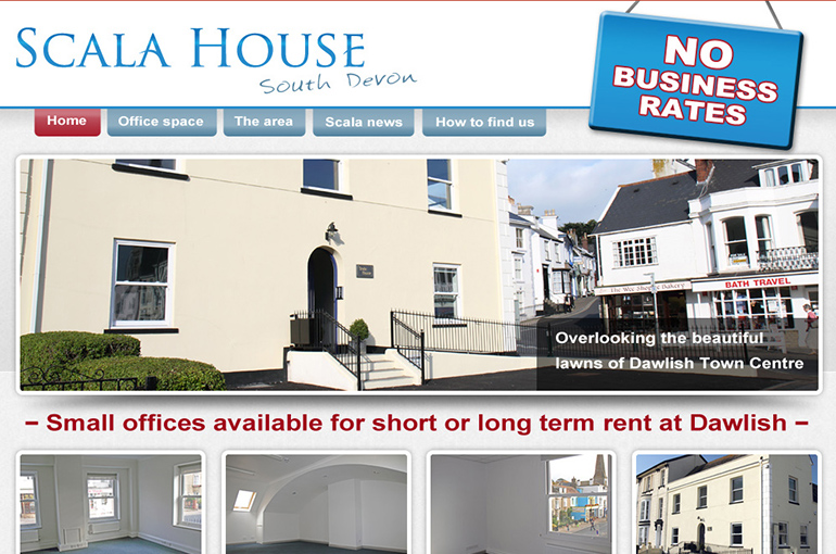 Scala House Offices Website Design