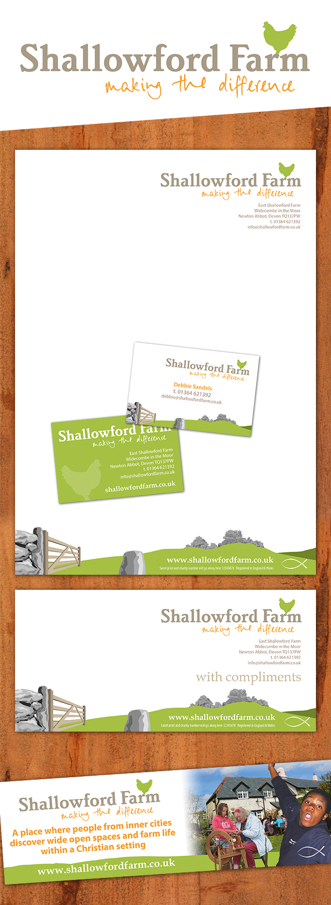 Shallowford Farm Branding Design