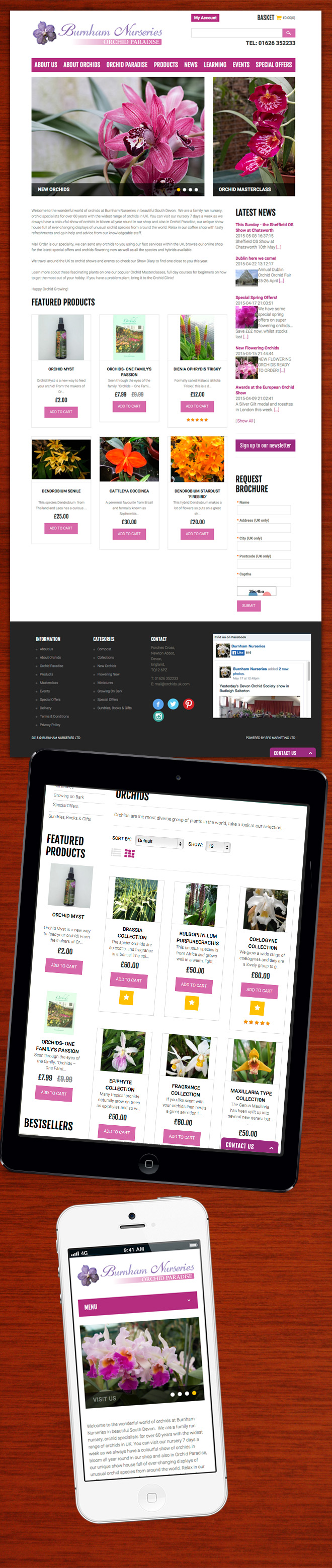 Burnham Nurseries Website Design