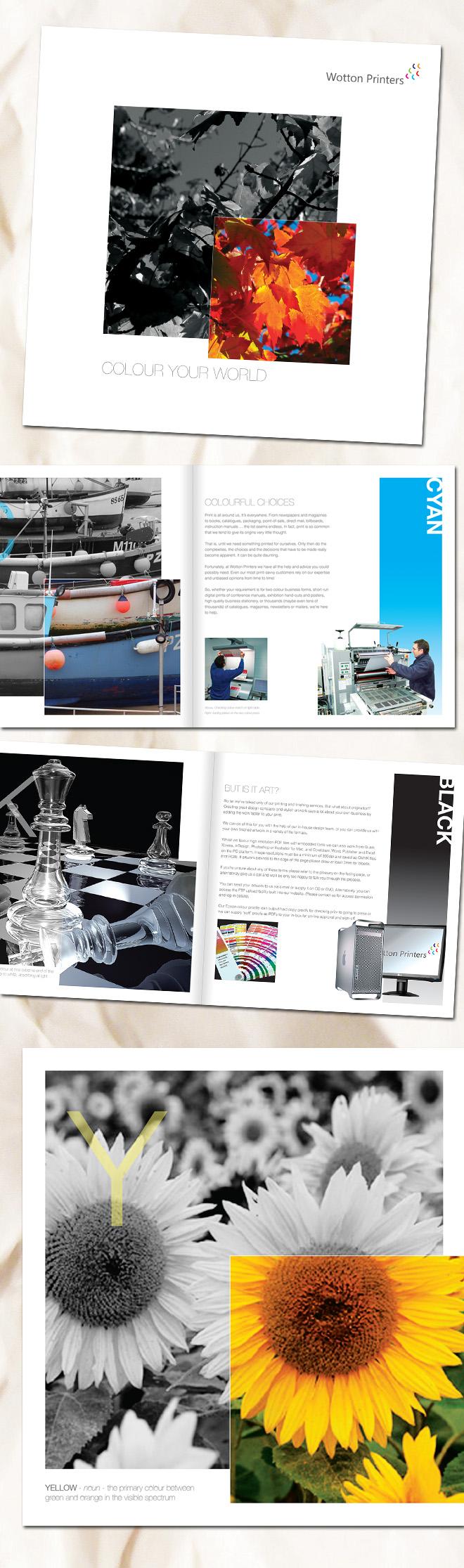 Wotton Printers Brochure Design